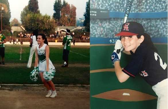 17.) In high school I was a cheerleader, but my biggest love as a kid was softball. I played for 10 years.