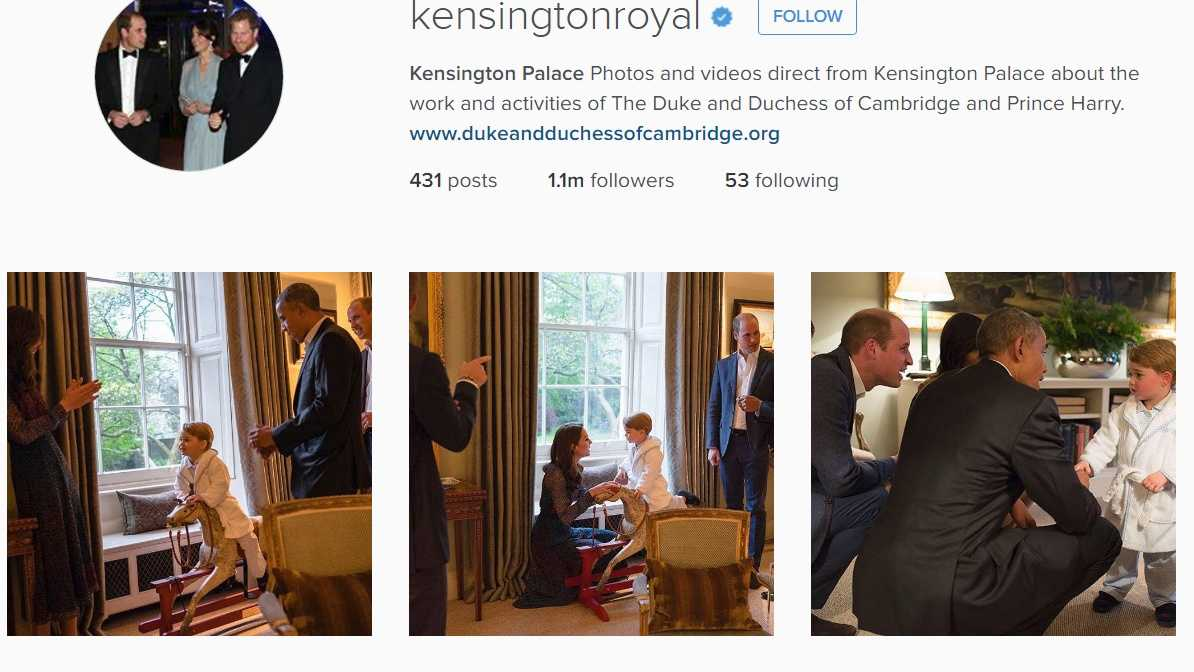 Screen grab of KinsingtonRoyal Instagram account on Friday, April 22, 2016.