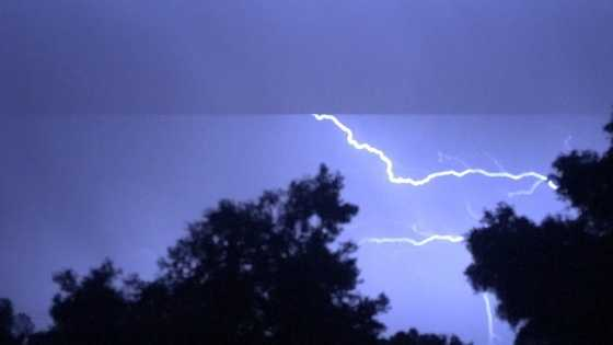 Lightning could be seen in the skies from many spots in Northern California. This photo was taken in Diamond Springs.