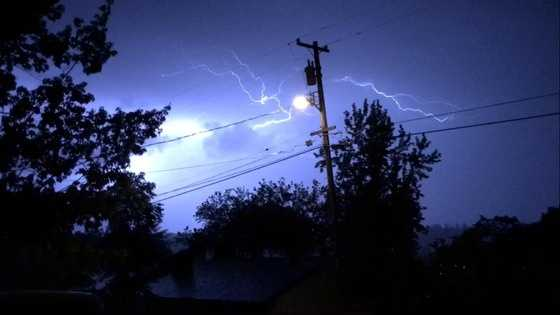 More flashes of lightning showed up in the town of Jackson.