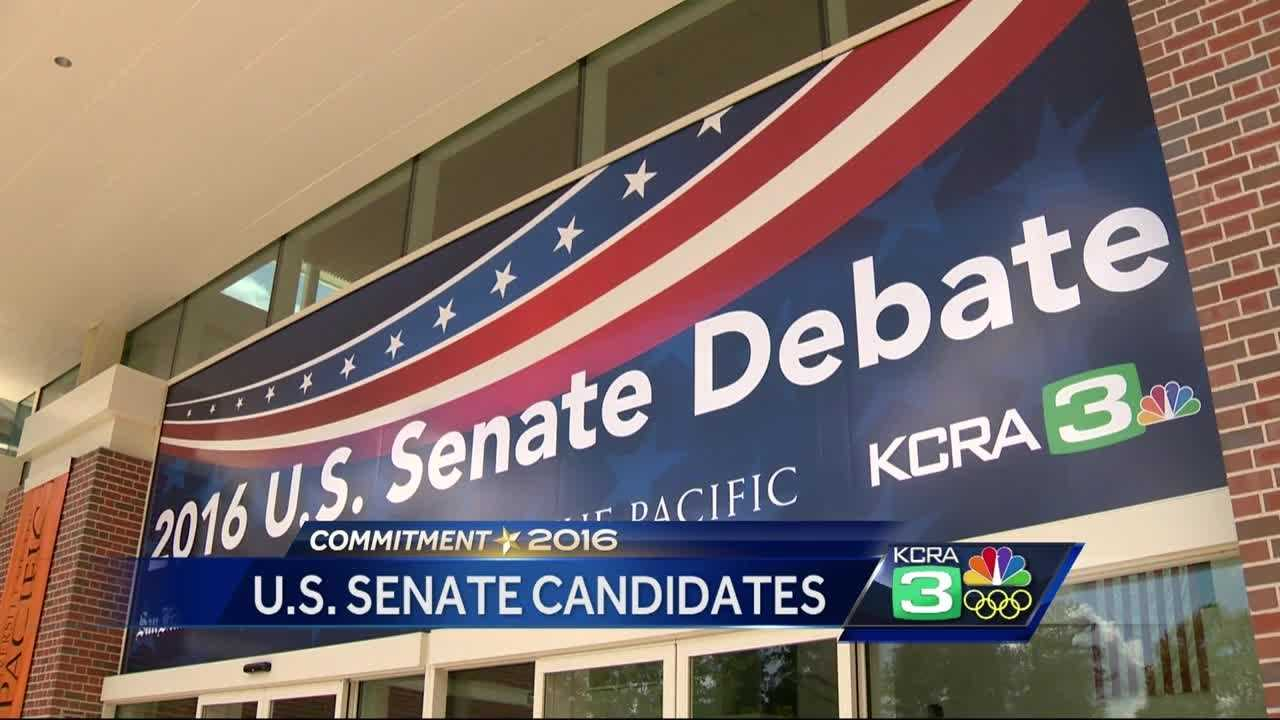 The five leading candidates vying to take over Sen. Barbara Boxer's seat will debate Monday night in Stockton.