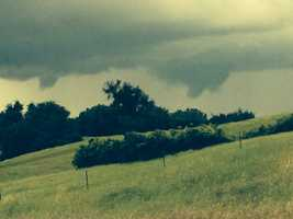 Another viewer submitted photo of potential funnel clouds in Plymouth.