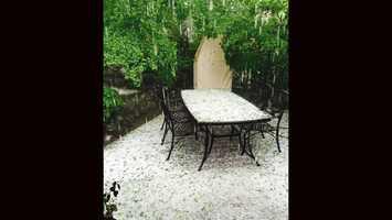 Hail seen in Rancho Murieta.