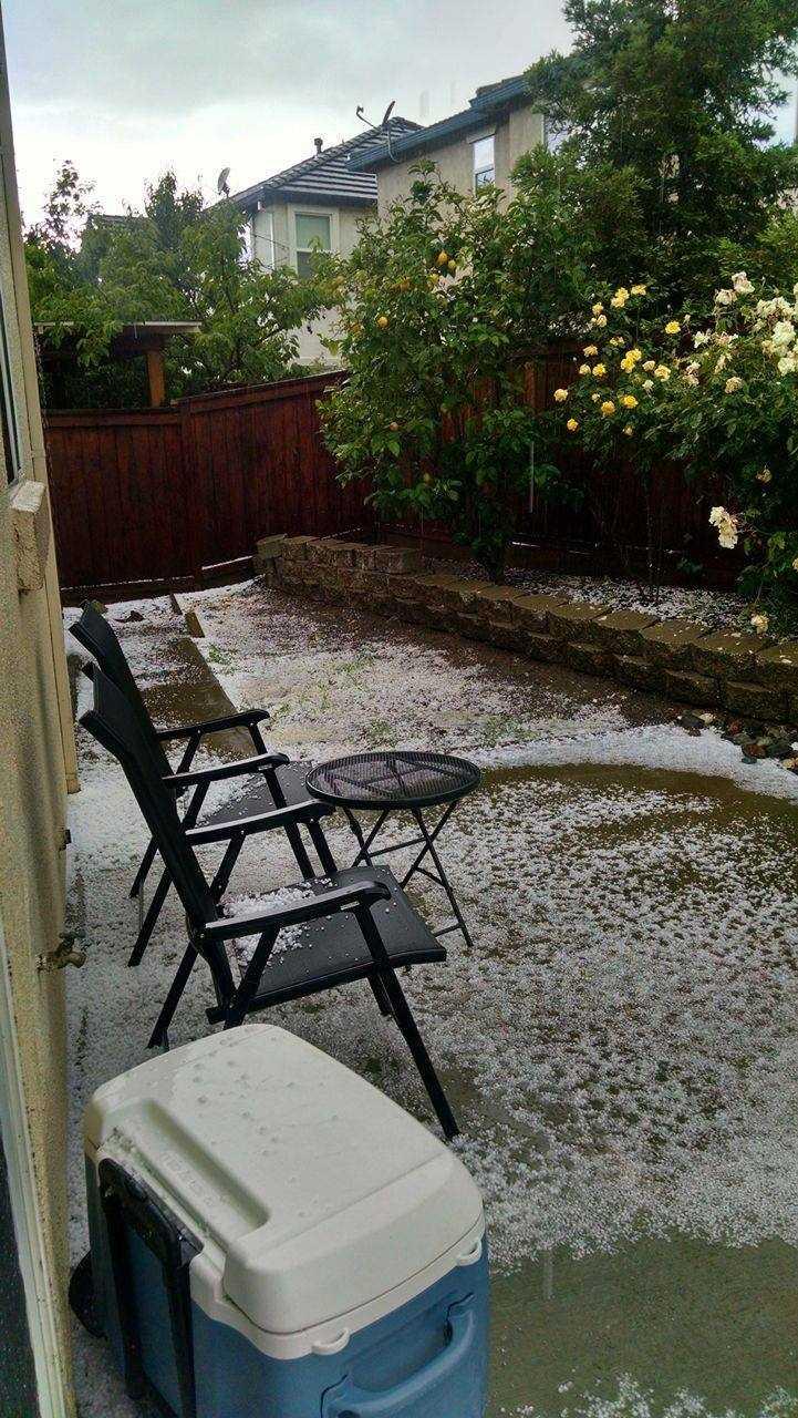Hail seen in Fairfield.