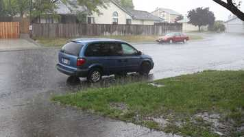 Vacaville hammered with lightning, thunder, rain and hail.