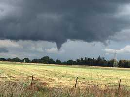 Funnel cloud seen between Oakdale and Modesto.