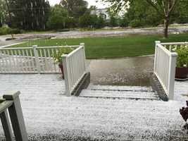 Hail seen in Elk Grove.