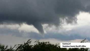 Funnel cloud spotted near Waterford in Stanislaus County.