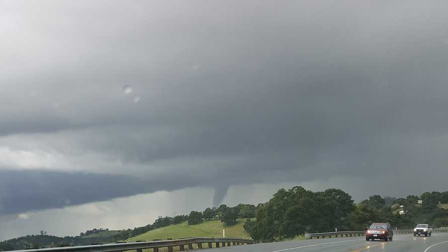 Another view of a funnel cloud in Shutter Creek.