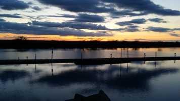 Sunset at Paradise Point Marina in Stockton.