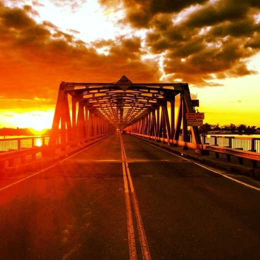 Sunset at Helen Madere Memorial Bridge/Rio Vista Bridge in Rio Vista.