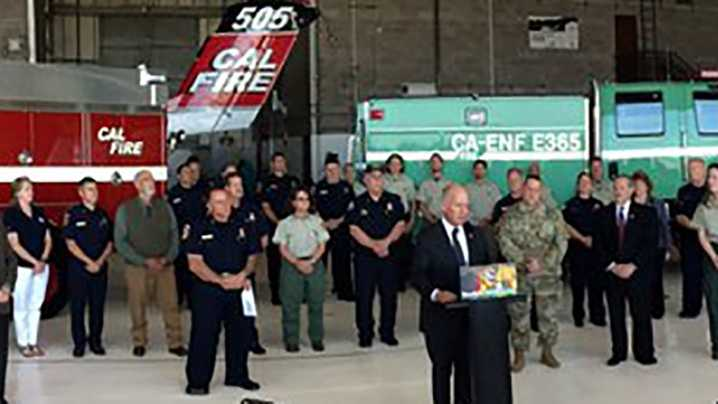 Cal Fire kicks off wildfire season awareness. (May 02, 2016)