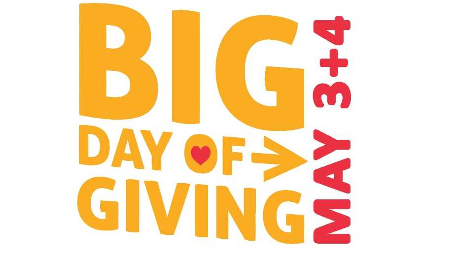 Big Day of Giving updated its logo after the event was extended to Wednesday afternoon due to technical issues Tuesday, May 3, 2016.