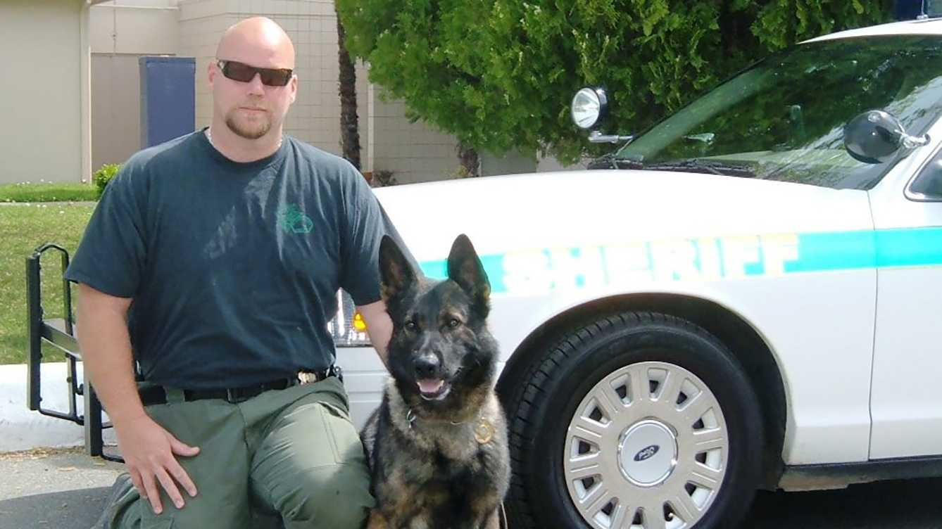 Placer County Sheriff's Lt. Dave Powers and K9 Nash.