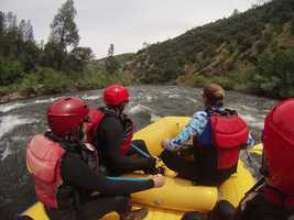 After four years of drought, California's rivers are flowing again thanks to strong storms that moved through the state. Whitewater rafting companies are taking advantage. A Coloma rafting company started its season early, taking people down the American River in March. Check out photos from a whitewater rafting trip here: