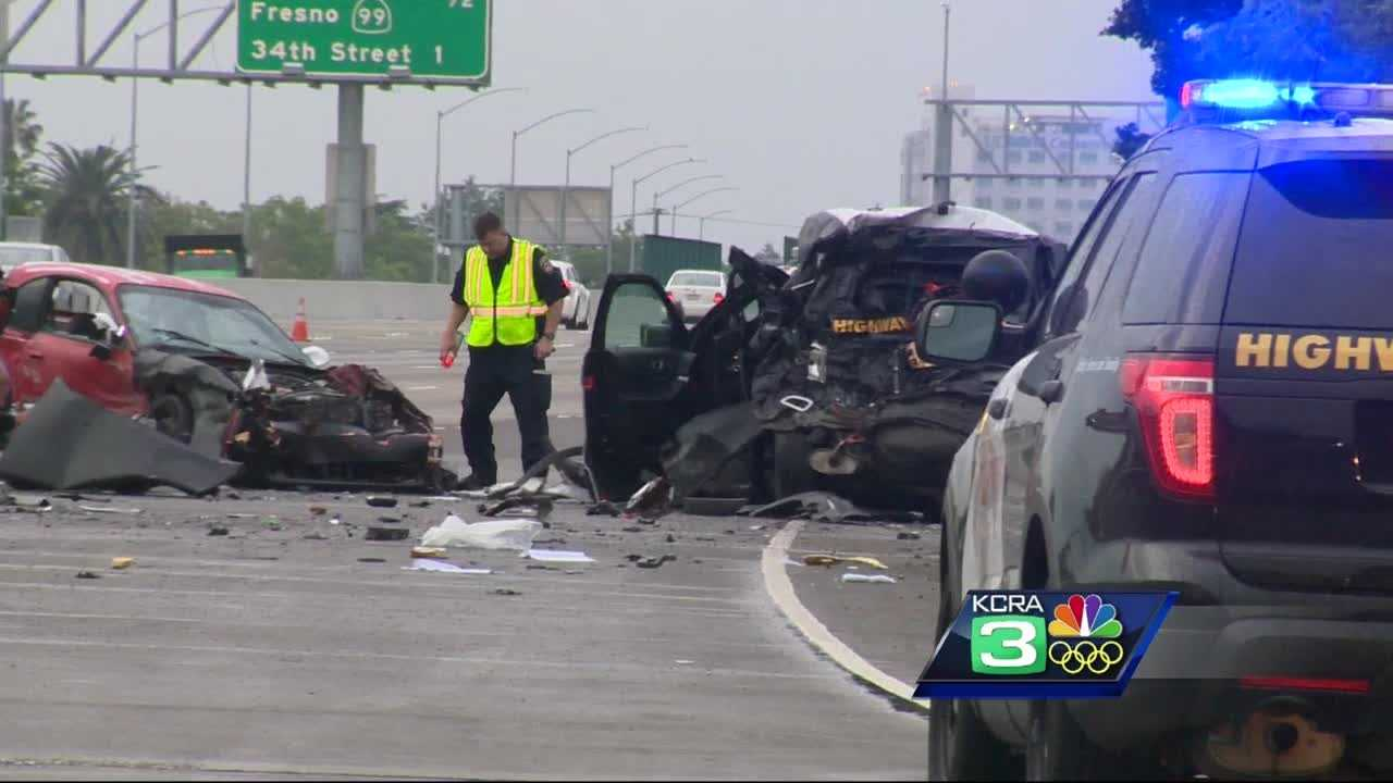A FedEx driver was arrested on suspicion of driving under the influence after he hit and seriously injured a CHP officer investigating a previous hit-and-run on Highway 50 in Sacramento,