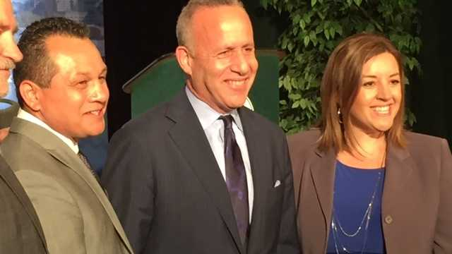 Tony Lopez, Darrell Steinberg and Angelique Ashby appeared at Sacramento mayoral debate.