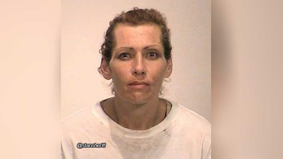 Rita Dedios Armenta, 48, was arrested on charges of stealing a sheriff's deputy patrol car.