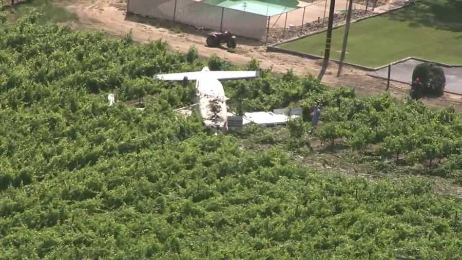 See images from Thursday's plane crash near the Lodi airport.