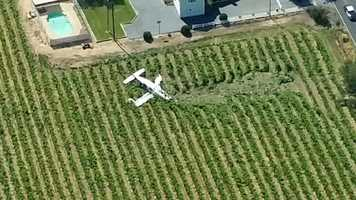 Photo from Dave Allen in LiveCopter 3 shows the path the pilot took in trying to land safely.