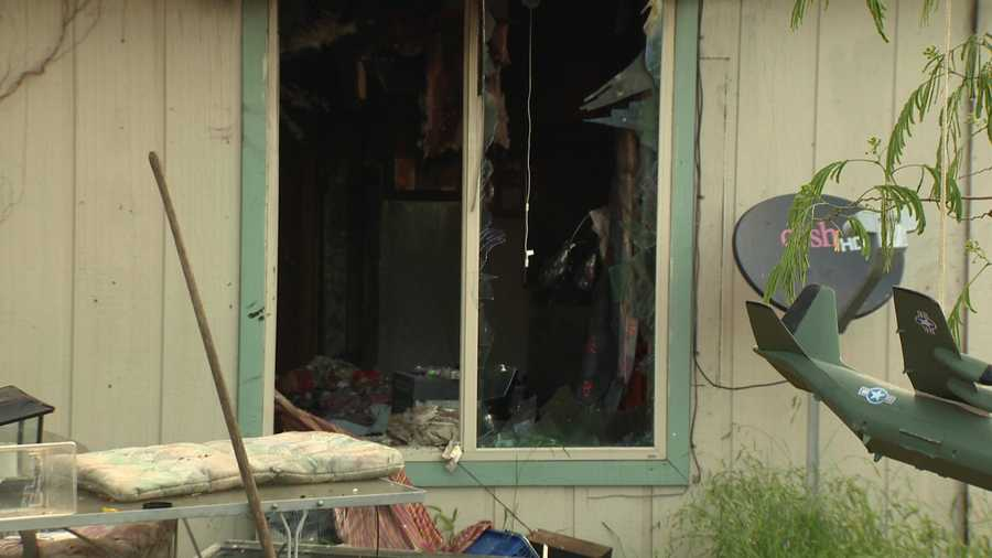 A Sacramento Metro Fire Department spokesperson said the home was heavily damaged by the blaze on Sunday, May 15, 2016.