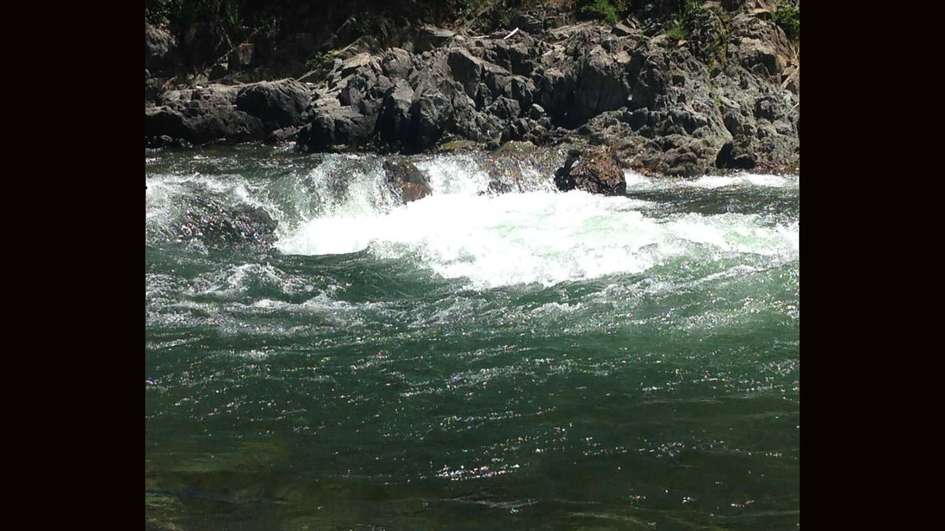Raging waters Tuesday along the North Fork of the American River.