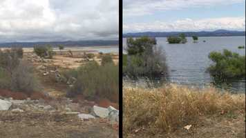 From December 2015 to May 2016, Folsom Lake went from its lowest historical capacity of 13 percent to 86 percent. Photos from three different views of Folsom Lake on Nov. 2, 2015&#x3B; Jan. 26, 2016&#x3B; March 7, 2016 and May 24, 2016, show drastic differences in the lake's water levels. Check out the photos: