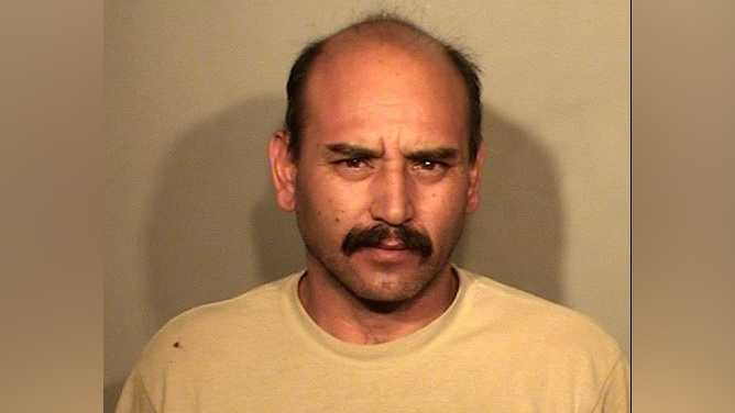 David Aguilar, 44, was booked into Stanislaus County Jail for the 2003 murder of Lacey Ferguson on Thursday, May 26, 2016, the Stanislaus County District Attorney's Office said.