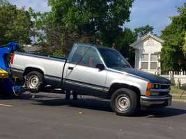 A 2004 truck in the 2900 block of Milroy Court.