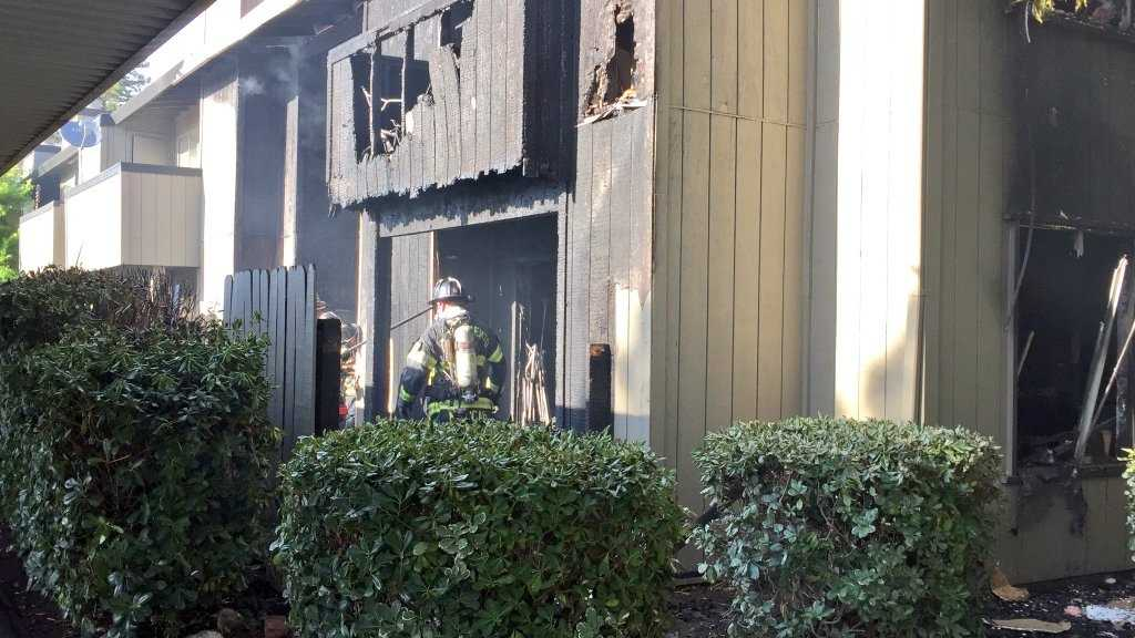 A fire damaged several apartment units at an Arden-Arcade complex on Monday, May 30, 2016.