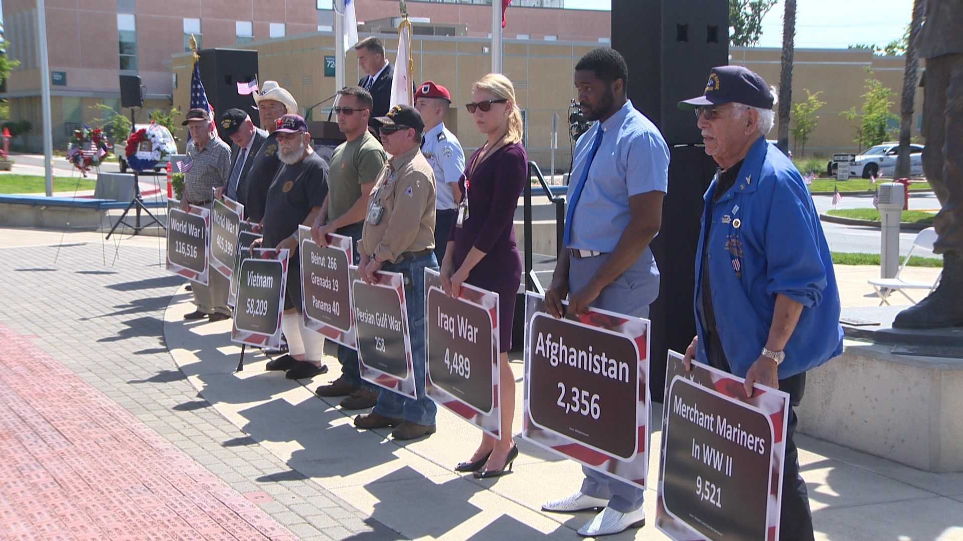 Fallen heroes and veterans were recognized Monday, May 30, 2016, during a Memorial Day event at Mather Air Force Base.