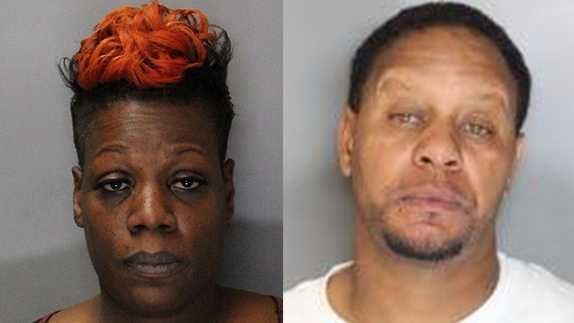 Shavaughn Vaugn, 43, (left) and Antwan Holliday, 44, (right) were booked at the Sacramento County Jail.
