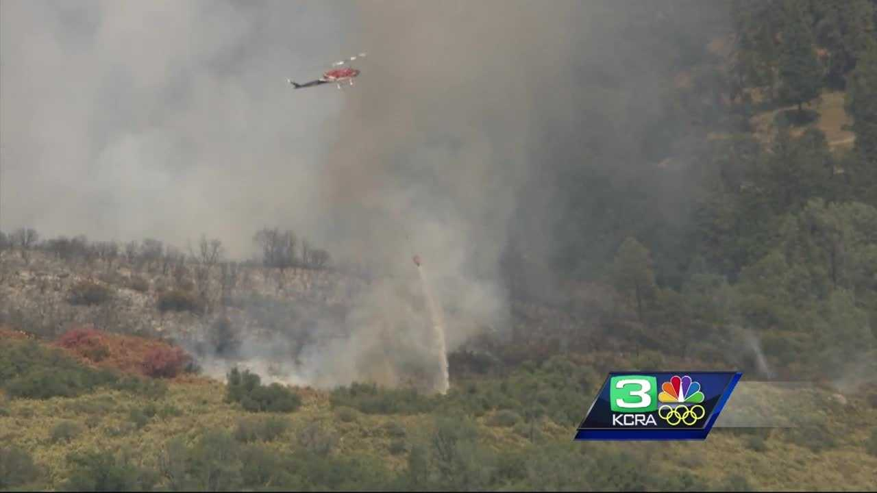 Wildfire in El Dorado County.