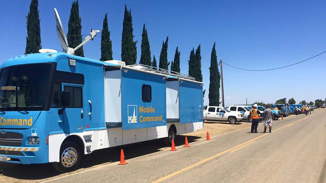 PG&E have taken over the repairs of the broken gas line.