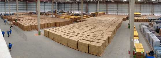 The furniture will be sold in bulk in 40 foot long containers.