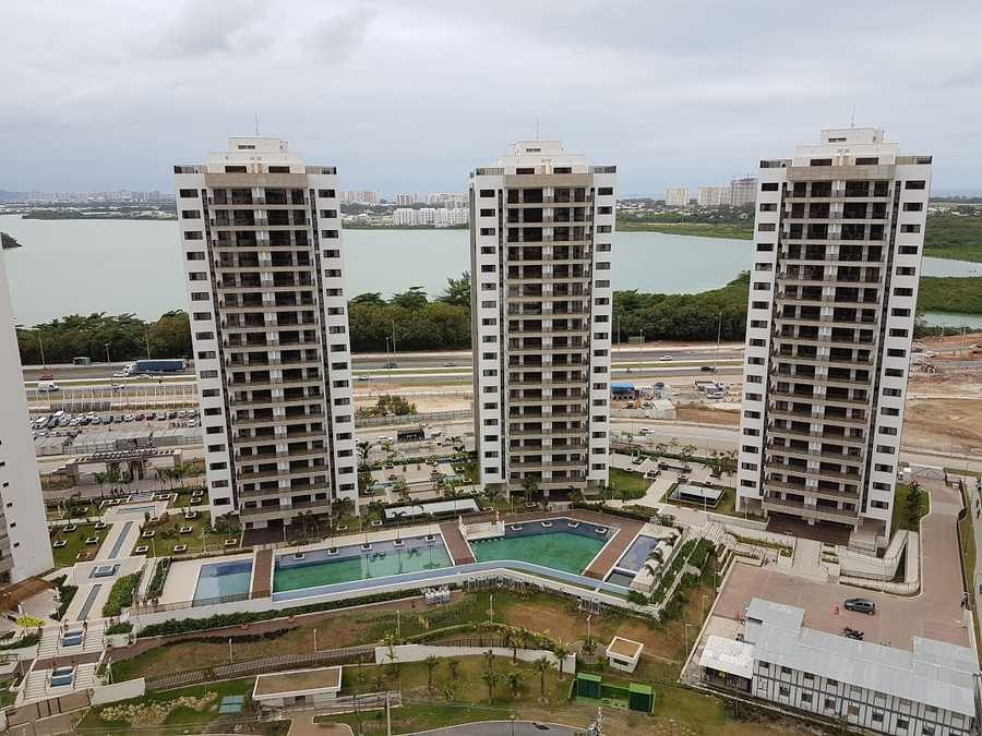 The Olympic Village consists of multiple high-rise apartment buildings.