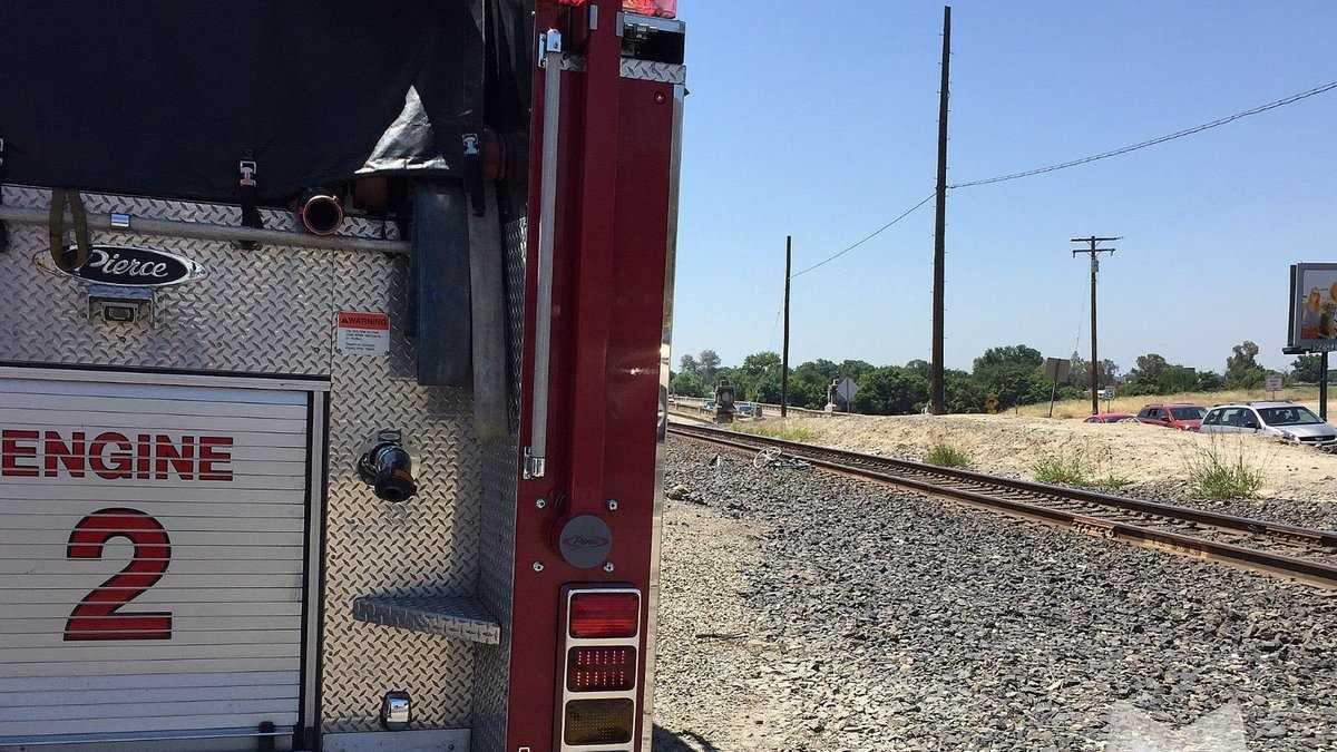 Collision involving train and cyclist. (June 13, 2016)