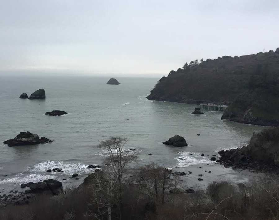 """Trinidad, which is along the Northern California coast about 20 miles north of Eureka, is a definite must-see! (I went on a gloomy day, so this photo doesn't do it justice.) When you drive into this small town, it's unbelievable how beautiful the views are! There's also the Trinidad Head Lighthouse memorial where they honor those lost at sea (not pictured).""--Dana Griffin, reporter"