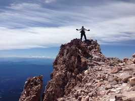 """""""Climb Mount Shasta!""""--Dirk Verdoorn, meteorologist"""