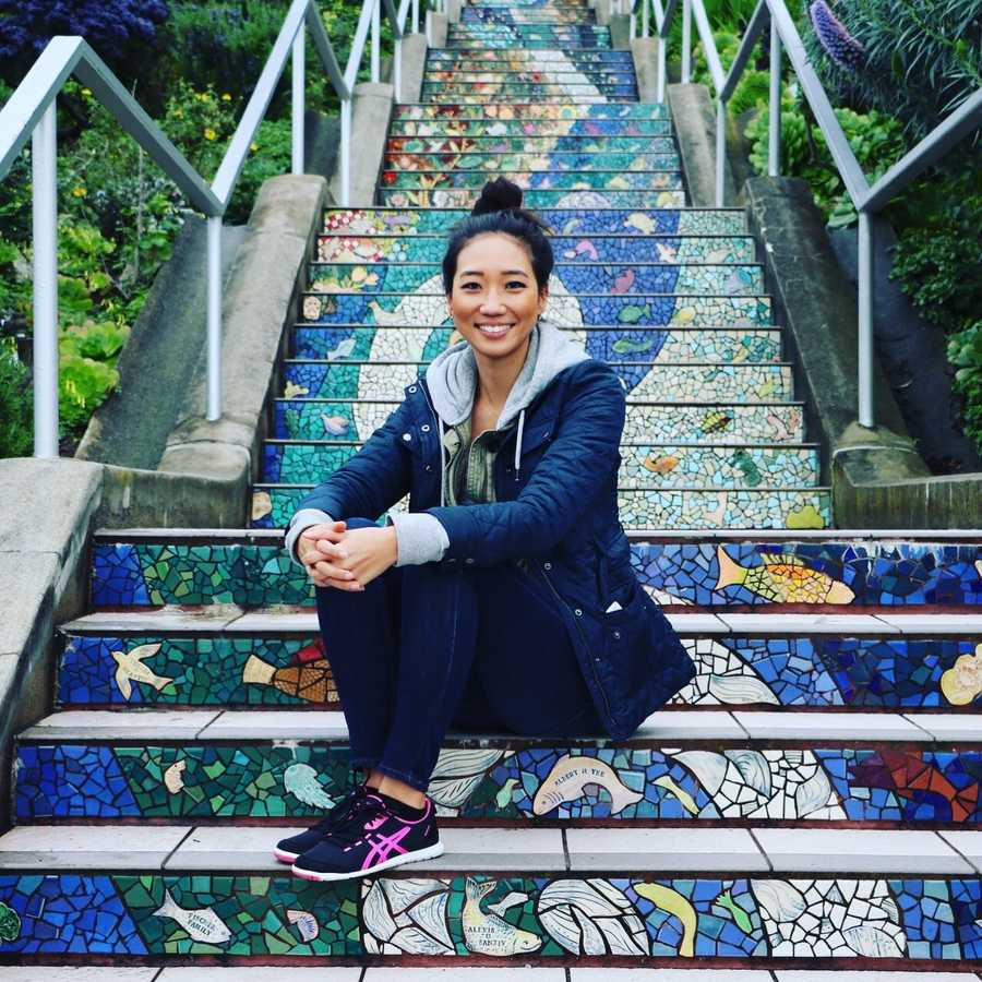 """There's the 16th Avenue tiled steps in San Francisco. 163 steps!""--Kathy Park, anchor/reporter"