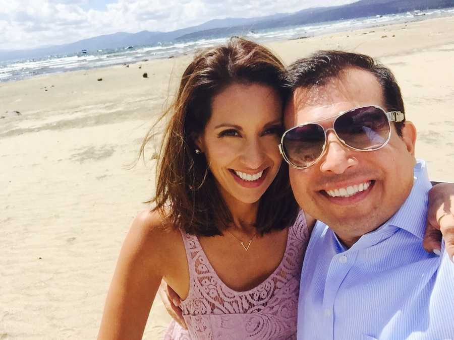 """Have a picnic on Kings Beach in North Lake Tahoe. This is a photo of my husband and I celebrating our 10-year anniversary in the same spot where we got married. Such a tranquil place.""--Leticia Ordaz, anchor/reporter"
