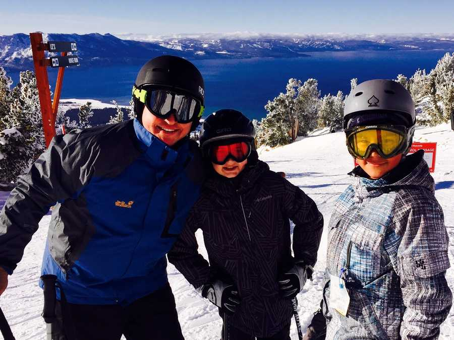"""See Lake Tahoe from the top of a ski run.""--Teo Torres, anchor"
