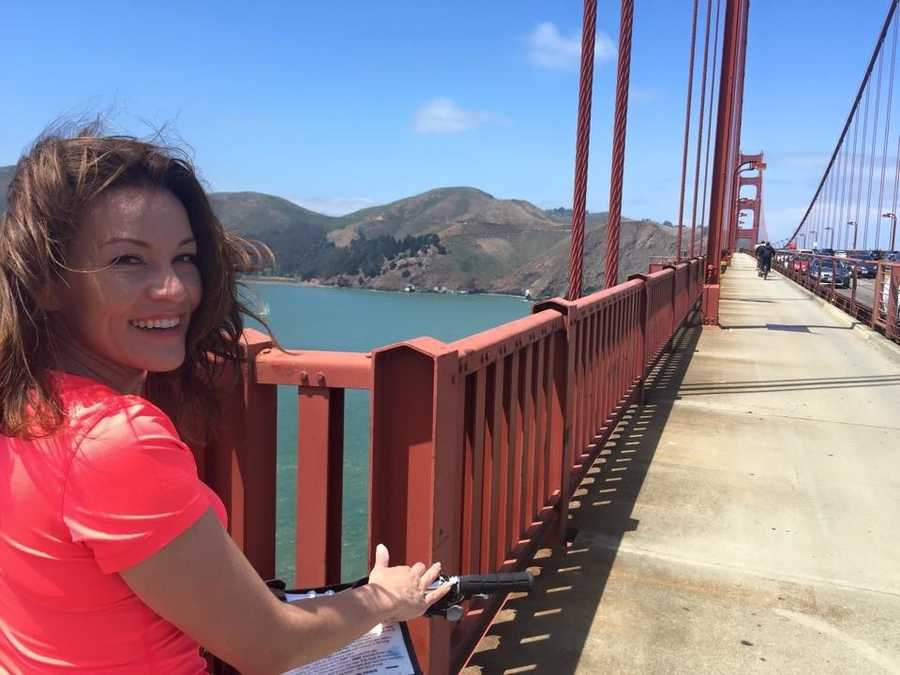 """Don't just look at the Golden Gate Bridge, but ride your bike across.""--Vicki Gonzalez, reporter"