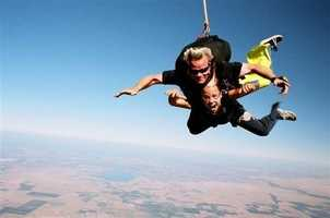 """Go jump out of a plane! I've done it twice. This jump was in Lodi.""--Michelle Dapper, sports anchor/reporter"