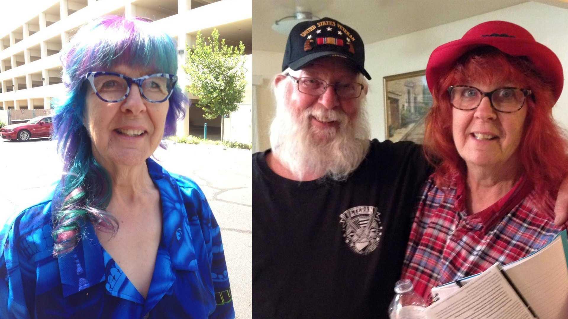 Photos show Donna Zurfluh and her husband Ron Zurfluh.