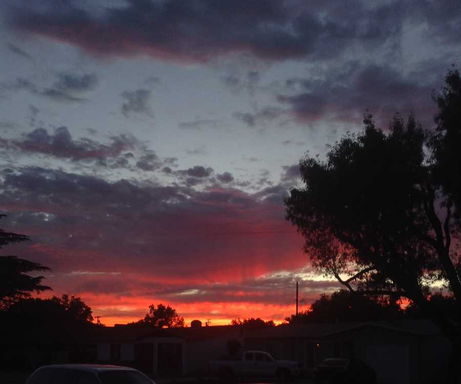From u local user: Taken outside my Stockton home. Red sky is definitely a delight!
