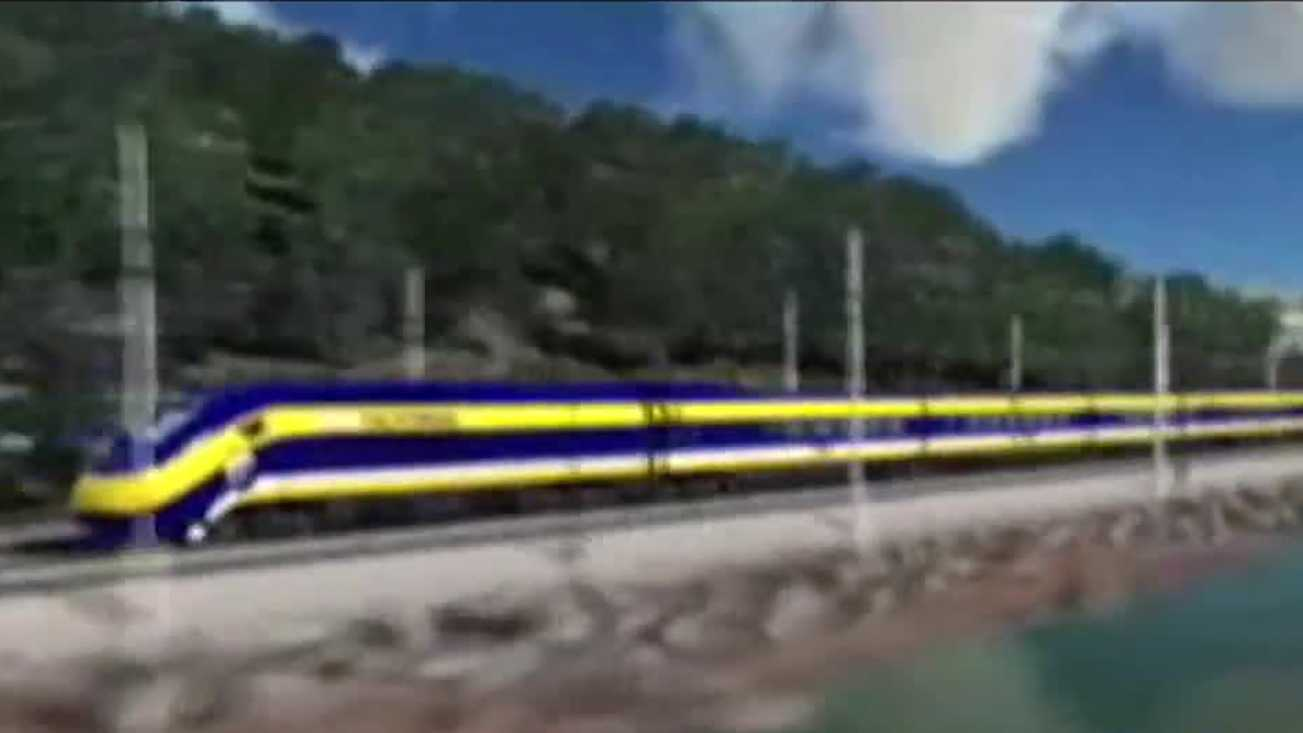 High-speed rail rendering