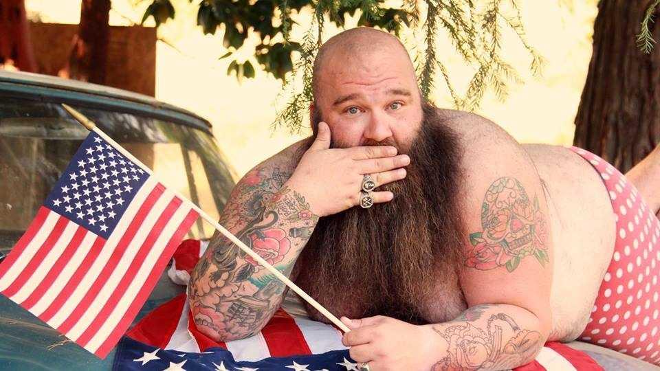"Sacramento bail bondsman and bounty hunter Josh Varozza poses for ""dudeoir"" photos."