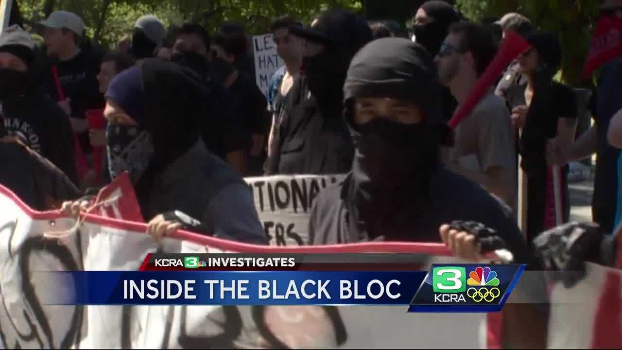 "Investigators believe the group ""Black Bloc"" was behind the violence at the protest held at the state Capitol Sunday. Police said the black scarves and masks make it harder for investigators and victims to identify attackers and vandals."
