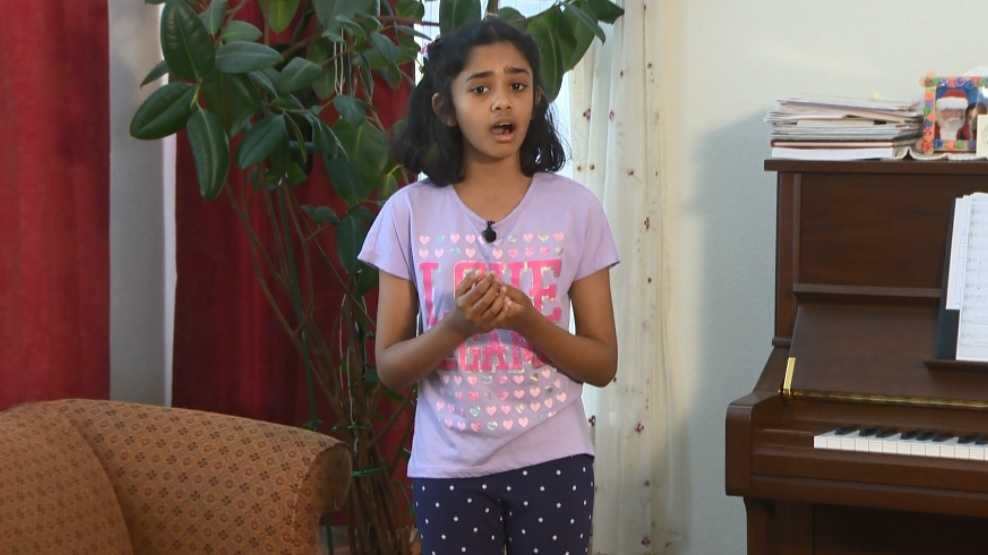 Tiara Abraham, 10, will be singing at Carnegie Hall on Thursday, June 3, 2016.